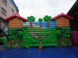 屋外のジャングルの主題の子供の膨脹可能な遊園地