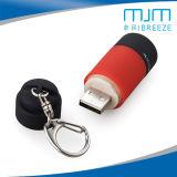 Linterna recargable del USB LED Keychain de la antorcha