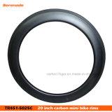 "451 глубина волокна 38mm/50mm углерода 20/24 тормозов колес v для 20 "" складывая оправ Bike дороги Bike BMX"