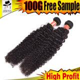 cabelo 100%Vigin de extensões Curly brasileiras da onda