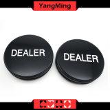 Botão Sculputre concessionário de Póquer Texas big blind/Pequeno botão Concessionário Bilnd Mãe de Pearl Botão Shell (YM-DR01)