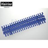 Transportband van de Zijwand van Hairise de Blauwe Plastic Modulaire Voor Verkoop