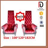 De mariage le Roi antique Chair Br-LC039 de dos haut