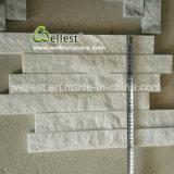 Fantastique Corniche de quartzite blanc split de la Culture de la pierre pour revêtement mural
