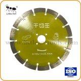 190мм сухой алмазные инструменты пильного полотна Hot-Pressed режущий диск желтого цвета