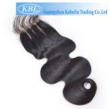 Kabielu 3part Methoden-Haar-Stück, freies Teil-Silk niedriges Schliessen-brasilianisches Haar-Spitze-Schliessen