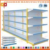 Hochwertige Metallsupermarkt-Bildschirmanzeige-Regale, die Ladenregal (Zhs147, beiseite legen)