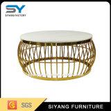 ホーム家具の茶表の円形の大理石の上のコーヒーテーブル