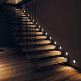 Конструкция лестницы крытой горячей балюстрады Tempered стекла сбывания плавая деревянная