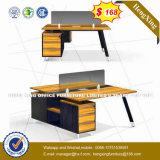Cloison de séparation en aluminium moderne en verre Tempered de meubles de bureau (HX-D9055)