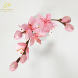 Handmade 28cm H Sakura 분지 꽃다발 나무로 되는 갈대 유포자 장식적인 인공 꽃
