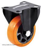 4/5 인치 트롤리를 위한 주황색 PVC 회전대 피마자 바퀴