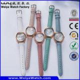 Relógio de pulso ocasional clássico das senhoras da forma de quartzo do ODM (Wy-095E)