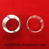 Bailo espiral de cristal transparente de alta pureza del tubo de cuarzo