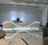 Fabricado en China el Corian Ronda curvo de mostrador de recepción de la Oficina escritorio