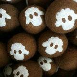 Mehrfachverwendbare natürliche Wolle-Filz-Kugel, Wolle-Trockner-Kugel, Schaf-Wolle-Kugeln