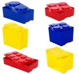 Bloque de construcción de la caja de almacenamiento apilable Toy Box profunda 6 Circular 55litros