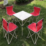 Cadeiras de acampamento e tabela ao ar livre, jogo 5PCS de acampamento