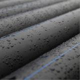 Tubulação do HDPE da drenagem do padrão de ISO, tubulação Pn 10 do HDPE da fonte de água