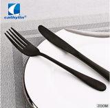 Grau alimentício 18/0 Preta Moderna Ss talheres para restaurantes