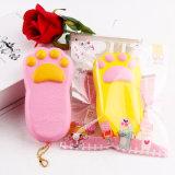 Gelbe und rosafarbene Schaumgummi-Liebhaberei Kawaii nette Tatze-mini Squishy Spielzeug
