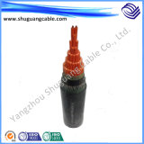 Al изолированный XLPE гофрированный и обшитый PVC силовой кабель