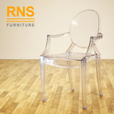 D390 Popular Hot Sale Italy Style Elegant Plastic Acrylic Chair with Leg
