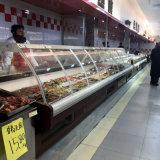 유리제 샌드위치 가게 전시 냉장고가 슈퍼마켓에 의하여 곡선 플러그를 꽂는다