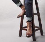 Высокий класс Нубук Челси зимние ботинки мужчин из натуральной кожи