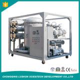 Haute tension sur la ligne de machine de recyclage des huiles de transformateur de vide