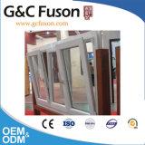 Finestra di apertura di vetro dell'oscillazione di qualità del blocco per grafici di alluminio di alta classe di profilo