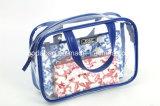 3部分によってセットされる青および白いPU装飾的な袋(BDY-1709041)