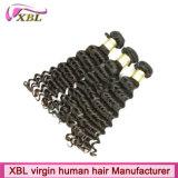 Отсутствие путать отсутствие линяя двойного нарисованного индийского Weave волос