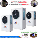 Top10 Save70%エネルギーCop4.23 R410A12kw、19kw、35kw、70kwの105kw暖房+熱湯60deg cのマルチヒートポンプの給湯装置