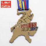 カスタム記念品は賞メダルを卸しで実行する小さい金属メダル円形浮彫りを与える