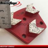 Sapata de moedura concreta do diamante macio do Trapezoid de três segmentos da seta 16#