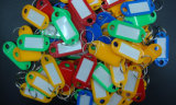 Indicateur de clé des prix d'analyse d'étiquette de carte de boucle de trousseau de clés bon marché de bagages
