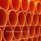 Pijpen van pvc van Plstic van de kwaliteit de Oranje
