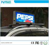 전시 P2.5, P5를 광고하는 옥외 택시 상단 LED