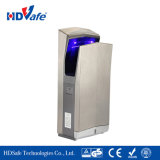 aço inoxidável montada na parede de luz UV de jato de ar do secador de mão