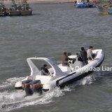 Usine de bateau de côte de coque de fibre de verre de Hypalon de bateau de côte de Liya 25feet