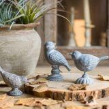 Decoración del hogar y del jardín de la escultura del arrabio/del pájaro de Polyresin