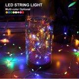 10 м 100 светодиодов теплый белый серебристый провод светодиодный индикатор строки на Рождество с адаптером