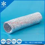 Conducto flexible de aluminio resistente al fuego de las capas dobles del aire acondicionado para la ventilación