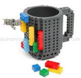 DIYのプラスチック創造的なブロックの煉瓦コップのマグ