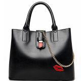 최신 형식 여자 큰 핸드백에 의하여 수를 놓는 입술 부대 우연한 어깨에 매는 가방 Sy8616