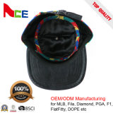 Chapeaux élevés de Snapback de tête de bord plat fait sur commande de qualité de marque d'as