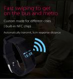 Montre intelligente imperméable à l'eau de Bluetooth de sport doux de bracelet de silicones