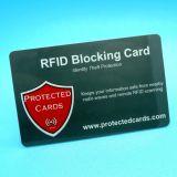 Anti proteção de corte RFID do cartão de crédito que obstrui o cartão