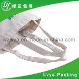 Saco 100% orgânico reusável amigável personalizado do algodão de Eco do punho longo relativo à promoção